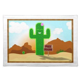 Free Hugs Cactus Place Mat