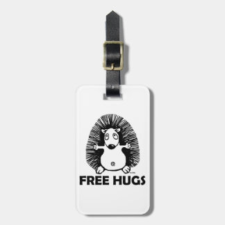Free hugs luggage tag