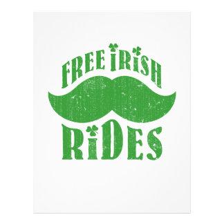 Free irish mustache rides 21.5 cm x 28 cm flyer
