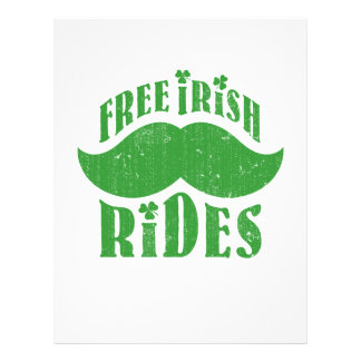 Free irish mustache rides flyer design