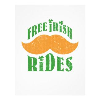 Free irish mustache rides custom flyer