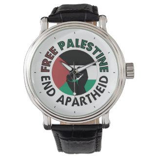 Free Palestine End Apartheid Palestine Flag Watch