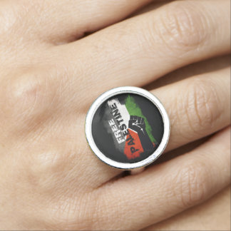 Free Palestine Grunge Flag with Closed Fist