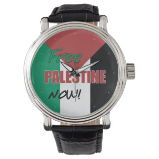 Free Palestine Now Palestinian Flag Watches