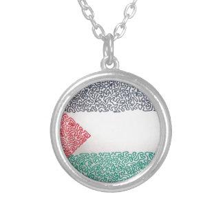 Free Palestine Round Pendant Necklace