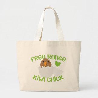 Free Range KIWI chick New Zealand Large Tote Bag