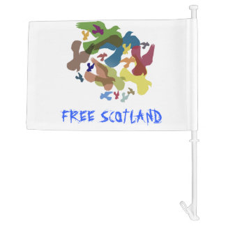 Free Scotland Scottish Independence Car Flag