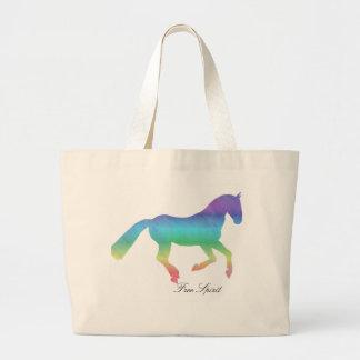 Free Spirit painted Horse Large Tote Bag