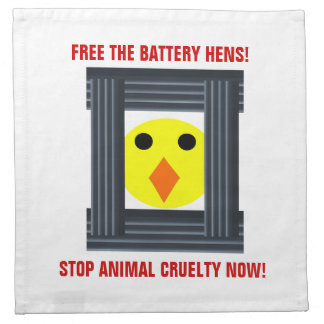 Free the Battery Hens Napkin