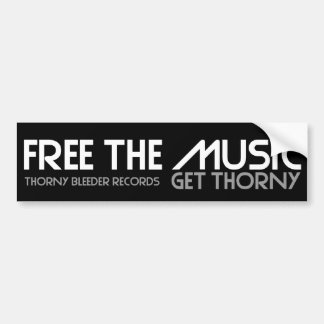 Free The Music Bumper Sticker