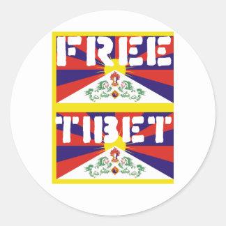 Free Tibet! Classic Round Sticker