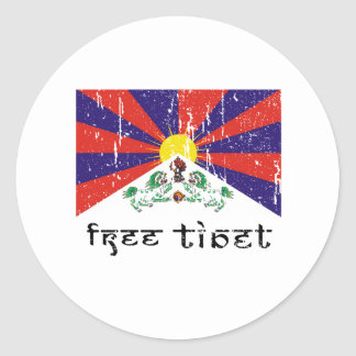 Free Tibet Gifts Classic Round Sticker