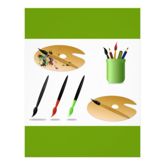 free-vector-painting-accessories-11021 flyers