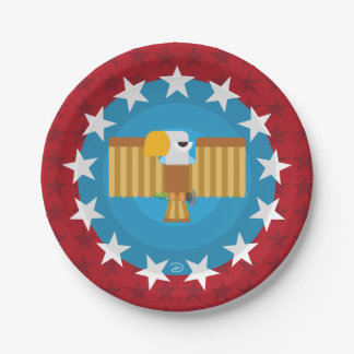 Freedom Eagle (Red) - Paper Plate 7 Inch Paper Plate