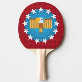 Freedom Eagle (Red) - Ping Pong Paddle