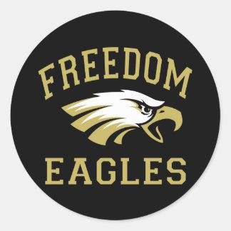 Freedom Eagles Round Sticker