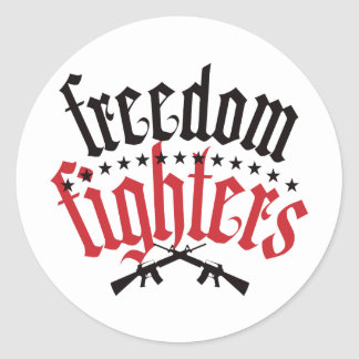 Freedom Fighters AR15 Classic Round Sticker