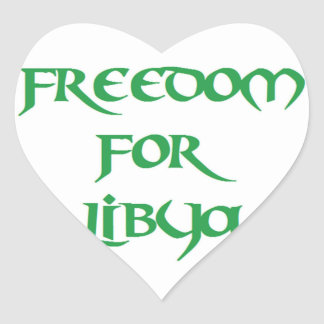 Freedom for Libya Heart Stickers