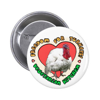 Freedom for Turkeys! Pinback Buttons