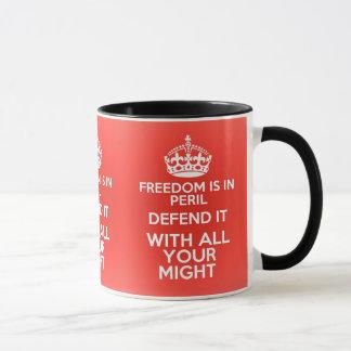 Freedom in peril 2016 mug