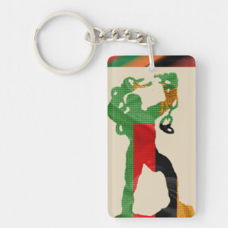 Freedom Statue Silhouette Keyring