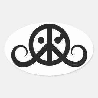 """Freedom sticker (oval 4.5 x 2.7"""") stickers"""