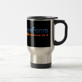 FreeForm Design Logo Travel Mug
