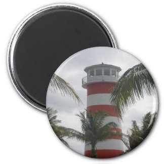 Freeport Bahamas lighthouse 6 Cm Round Magnet