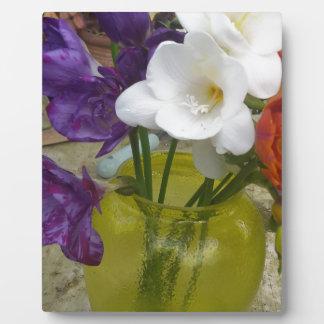 Freesia Flowers Plaque