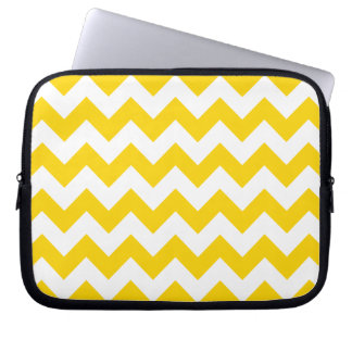 Freesia Yellow Chevron Zigzag Laptop Computer Sleeves
