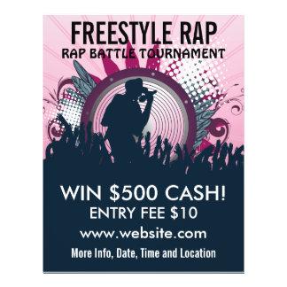 Freestyle Rap Music Flyer