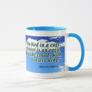 Freethinker quote mug