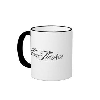 Freethinker Script Ringer Coffee Mug
