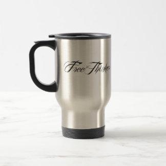 Freethinker Script Stainless Steel Travel Mug