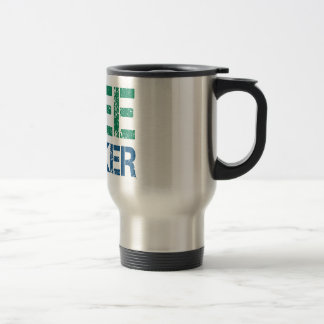 freethinker stainless steel travel mug