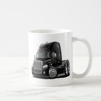 Freightliner Cascadia Black Truck Basic White Mug