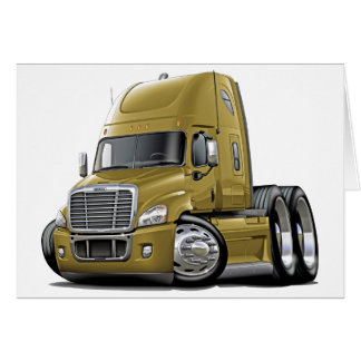 Freightliner Cascadia Gold Truck Card