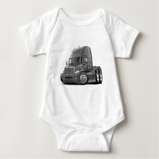Freightliner Cascadia Grey Truck Baby Bodysuit