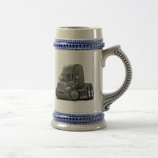 Freightliner Cascadia Grey Truck Beer Stein