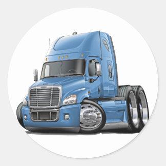 Freightliner Cascadia Lt Blue Truck Classic Round Sticker
