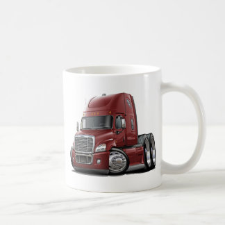 Freightliner Cascadia Maroon Truck Coffee Mug