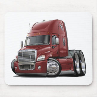 Freightliner Cascadia Maroon Truck Mouse Pad
