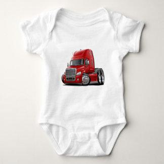 Freightliner Cascadia Red Truck Baby Bodysuit