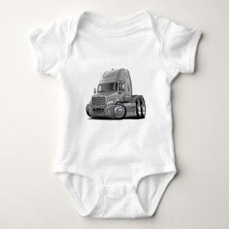 Freightliner Cascadia Silver Truck Baby Bodysuit