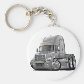 Freightliner Cascadia Silver Truck Key Ring