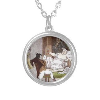 French Activities in the Store by Alexey Venetsian Round Pendant Necklace