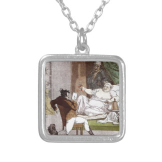 French Activities in the Store by Alexey Venetsian Square Pendant Necklace