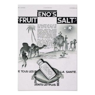 French Advertisement Enos Fruit Salt Poster