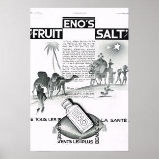 French Advertisement Enos Fruit Salt Poster