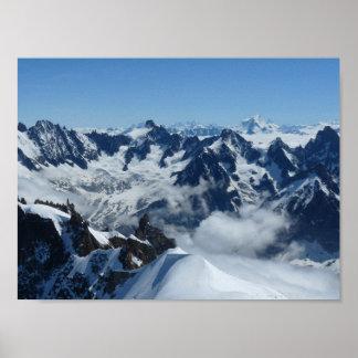 French Alps Chamonix Mont Blanc Poster